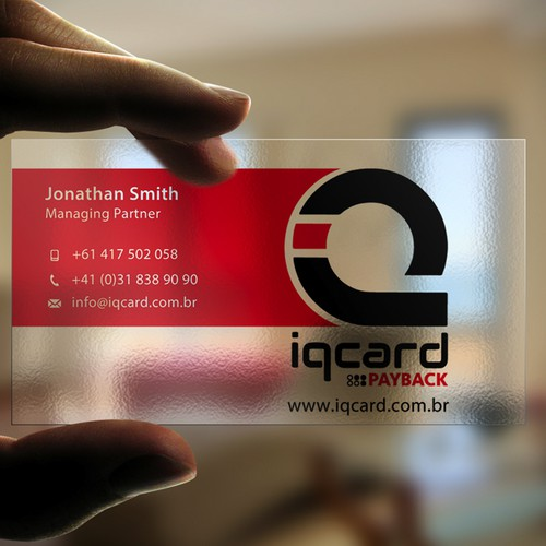 Cartão IQCARD Design por Milos Djuric