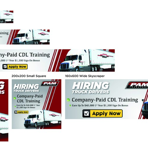 Keep on trucking! Create banner ads for truck driver