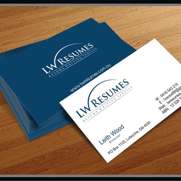Create A Logo For A Resume Writing Service Logo Business Card
