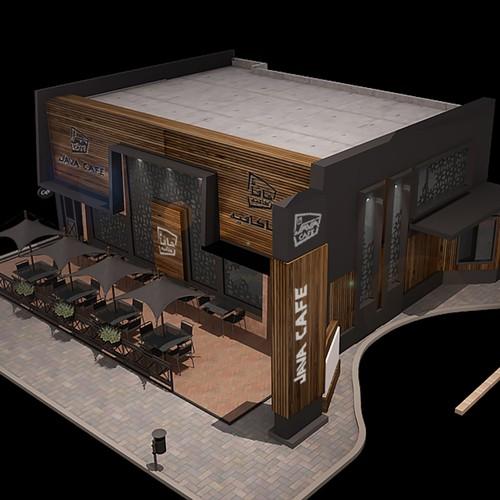 Coffee Shop Exterior Design | 3D contest