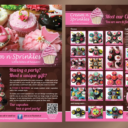 Cupcake Flyer for Cream n Sprinkles Design by GreenCherry