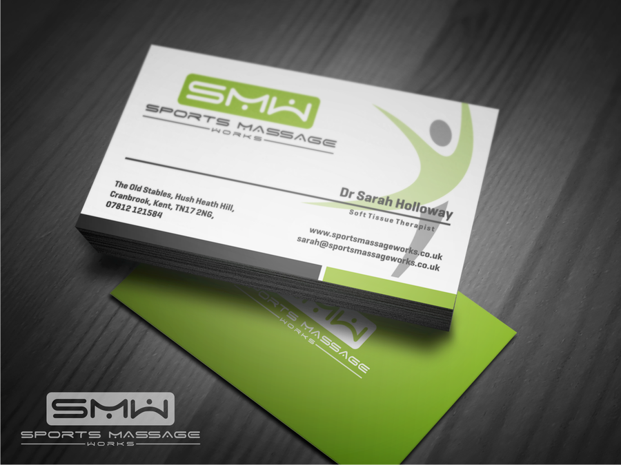 Create a fabulous logo and business card for a new sports massage ...