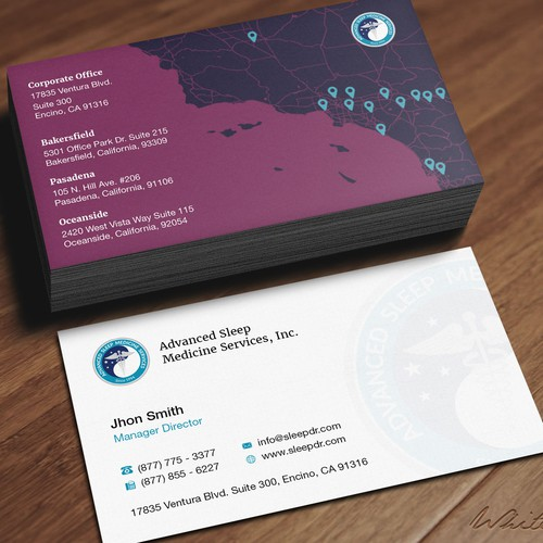 Design business cards for healthcare sales team incorporating our runner up design by whte drgon reheart Images