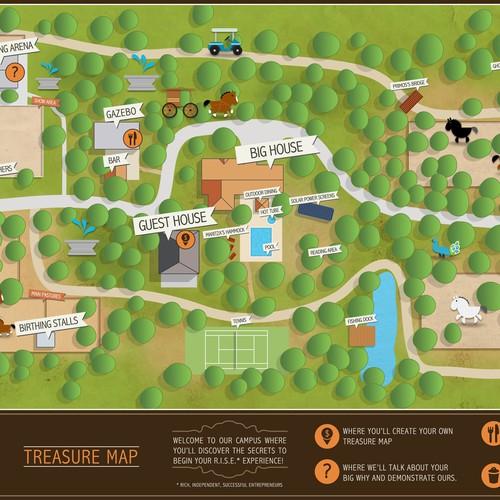 create the next illustration for the hacienda treasure map