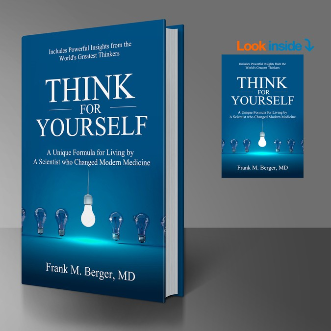 Think for yourself book cover contest book cover contests think for yourself winning design by aleksandar sikiras solutioingenieria Images