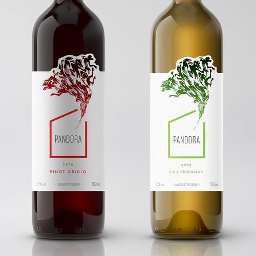 Design a Wine Label called 'Pandora' Design by Lasko