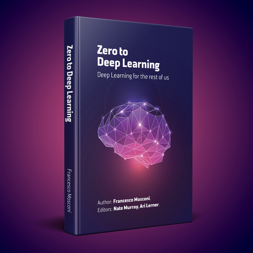 Book Cover Design Learn ~ Design a distinct and playful book cover on deep learning