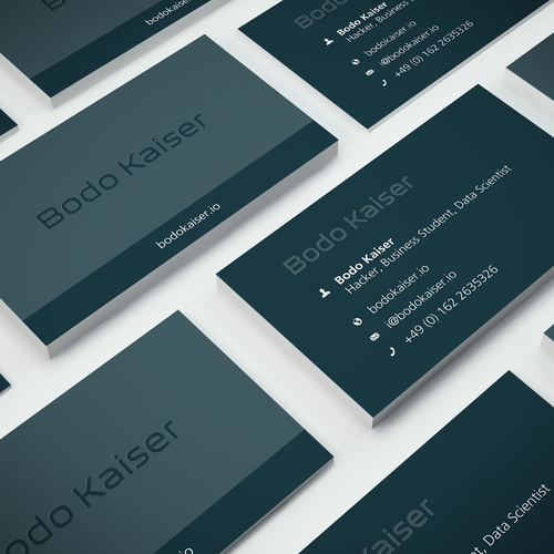 Flat Design For Hacker Business Card Contest