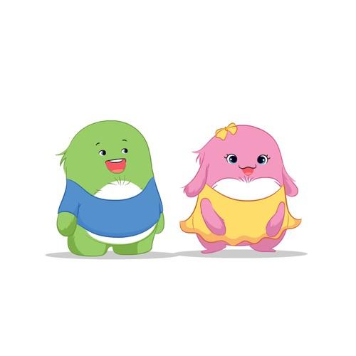 Cartoon/Mascot character for children TV Design by Pawon Bedjo !