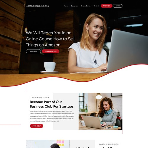 Design A Website For An Online Tutorial About Amazon Fba Web Page Design Contest 99designs