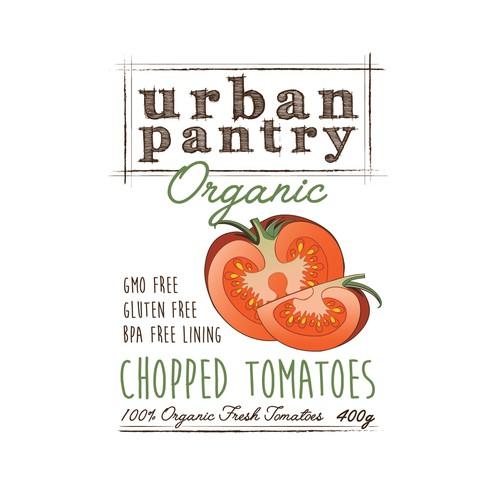 Organic Tin Tomato Label Design | Product label contest