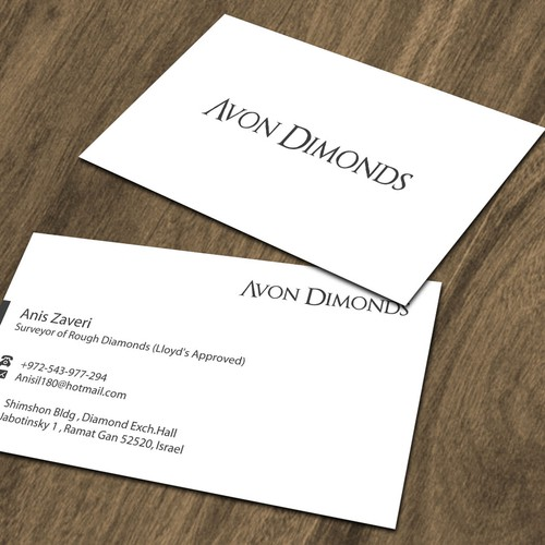 High class business card for diamond consultant business card contest runner up design by dezero colourmoves