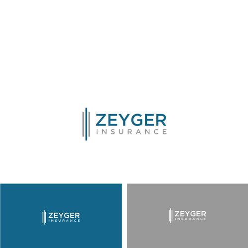 strong and powerful insurance brokerage logo logo design