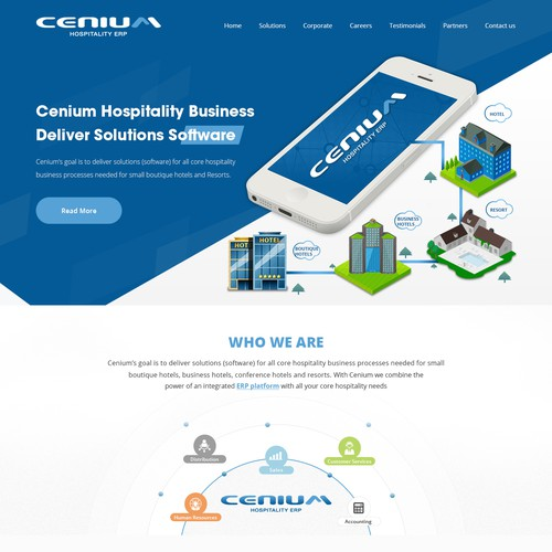 Global software company cenium needs a new website web for Global design company