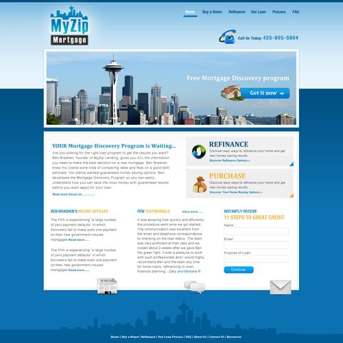 Ontwerp van finalist webdesign3r