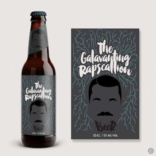 """The Gallivanting Rapscallion"" beer bottle label... Ontwerp door Lasko"