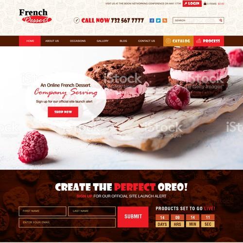 FrenchDessert com needs a new website design | Web page