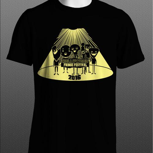 The 2016 Hollywood Fringe Festival T-Shirt Design by D'art'D