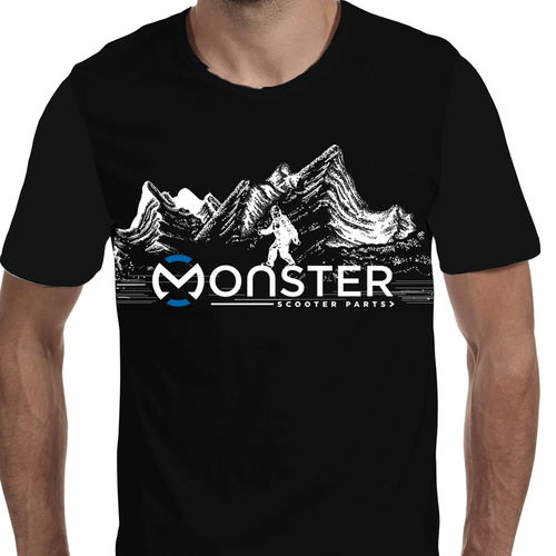 Creative shirt design needed for Monster Scooter Parts Design by lelaart