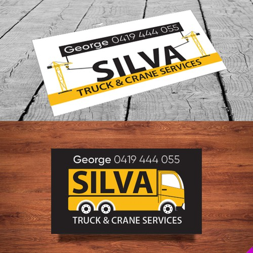 Design a business card for a truck and crane service