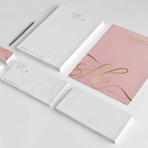 Create the next stationery for sHe artists Design by ElleGFXs