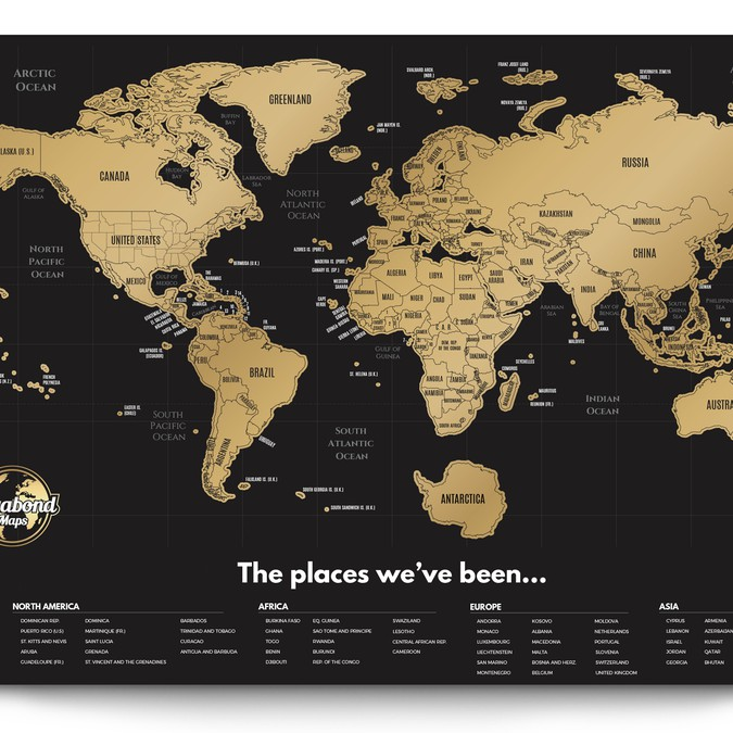 I Need A Map Of The World.We Need A Scratch Off World Map Designet From Scratch Poster Contest