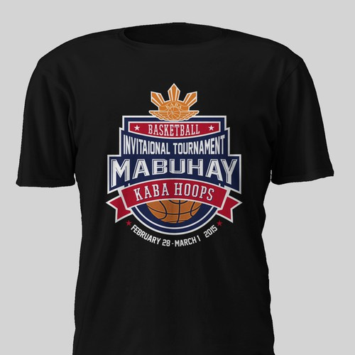 Create a college nba tshirt design for a boys and girls for Nba t shirt design