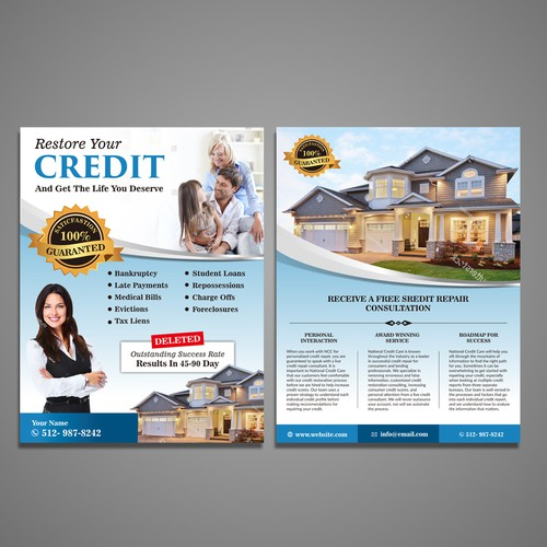 Driver Safety Education Credit Repair Postcard Flyer