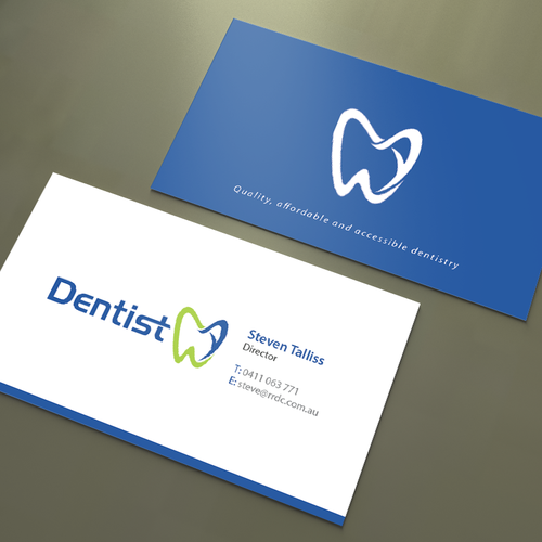 create professional cards for our dental business business card