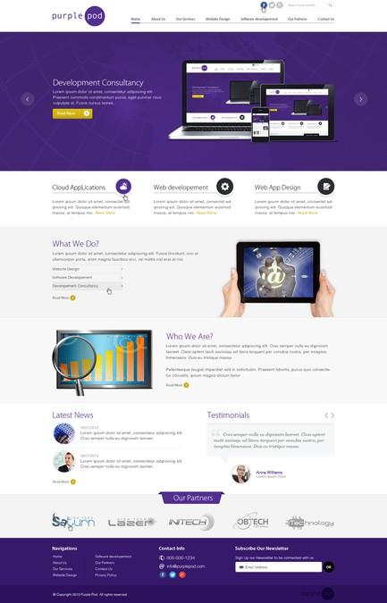 Diseño ganador de 99webdesigns