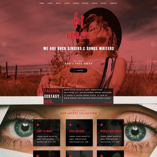 Runner-up design by HiltonWebDesign.com