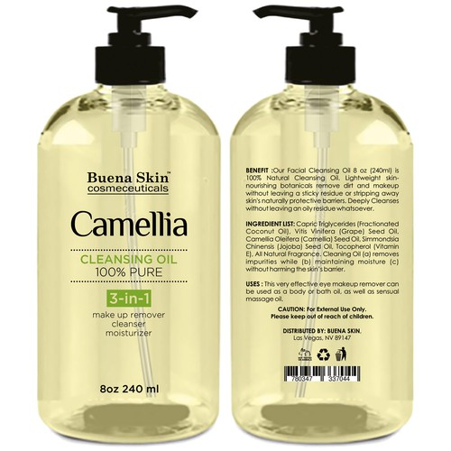 Create Compelling Image for Camellia Cleansing oil | Product