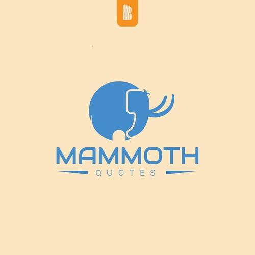 logo design for mammoth quotes logo social media pack contest