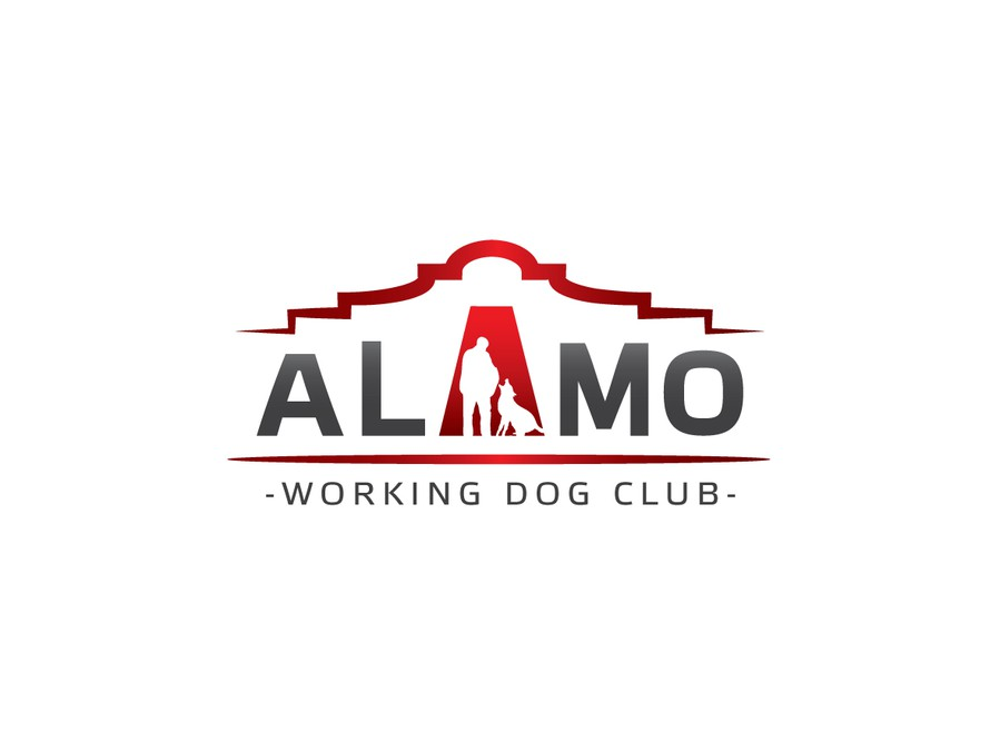 alamo work from home alamo working dog club logo logo design contest 8695