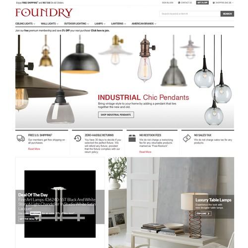 Foundry Lighting Homepage Slider For