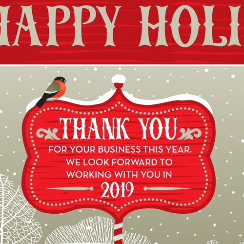 Obsessive Cleaning Happy Holidays Thank You Note