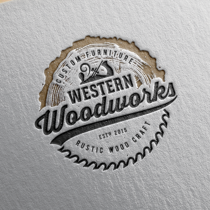 I need a rustic logo designed for my custom woodworking ...