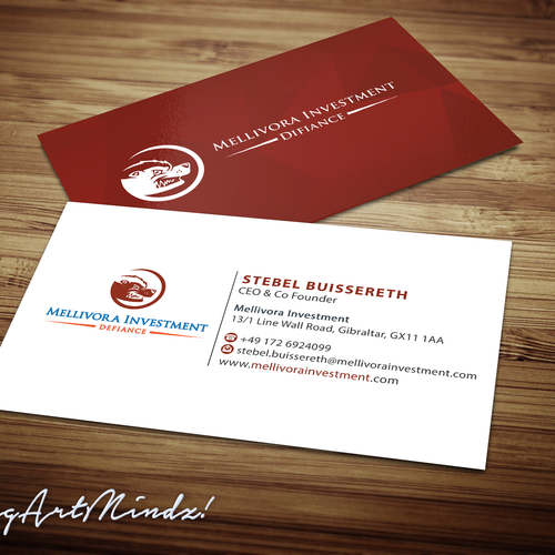 ceo business card