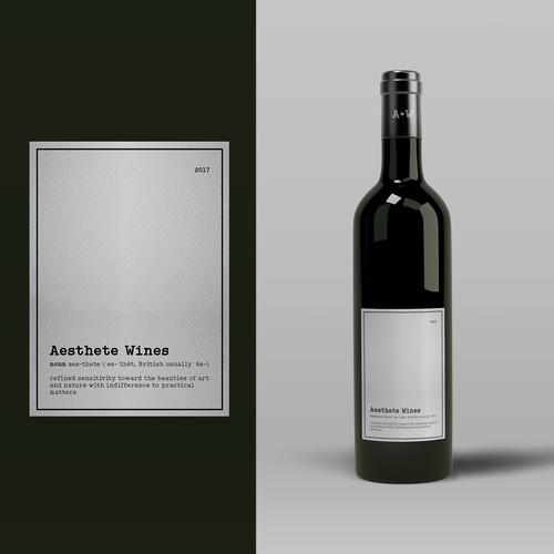 Minimalistic wine label needed Design by tenxdesign
