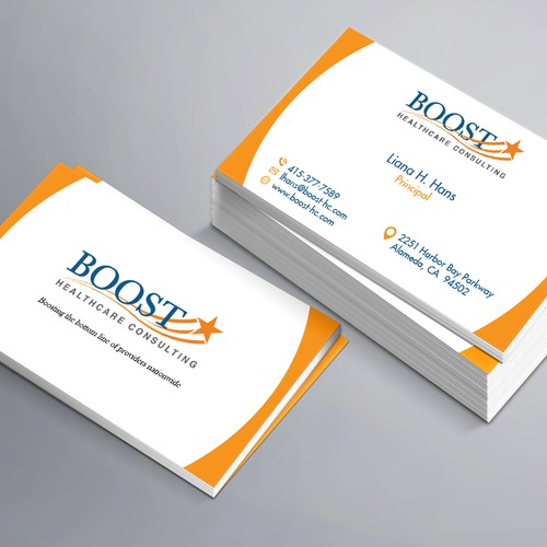 Healthcare consulting business card business card contest runner up design by wahiduzzal colourmoves