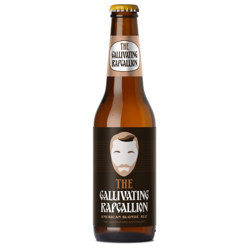 """The Gallivanting Rapscallion"" beer bottle label... Ontwerp door zhutoli"
