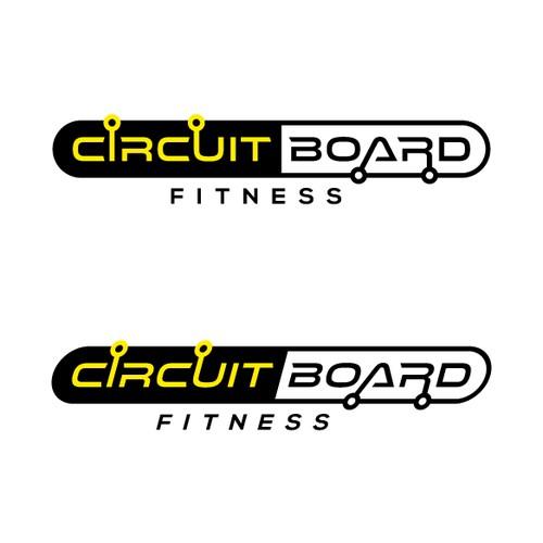 create a logo for the  u0026 39 circuit board u0026 39  group fitness machine