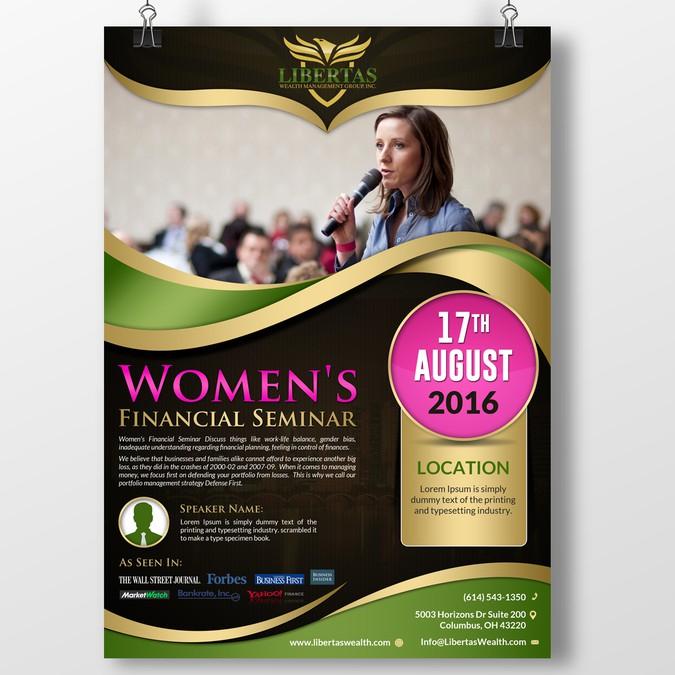 designers help us create a women s seminar advertisement