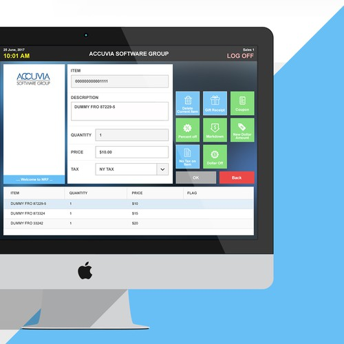 Design a Clean, Modern UI for Accuvia Software's Point of