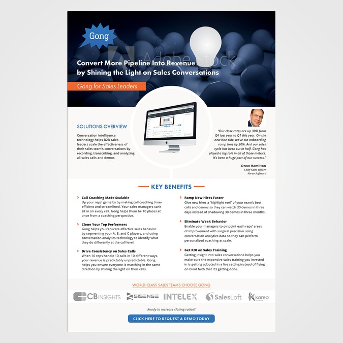 SaaS Product One-Pager PDF Brochure | Other design contest