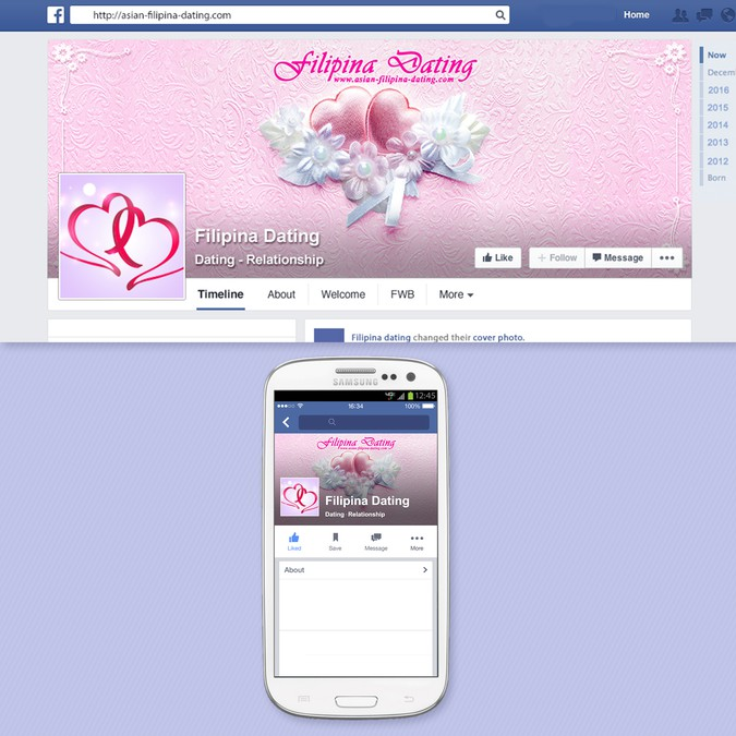 Facebook page for Filipina Dating Site | Facebook cover contest