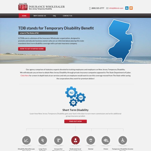 Website Focused On A New Jersey Insurance Product Web Page Design Contest 99designs
