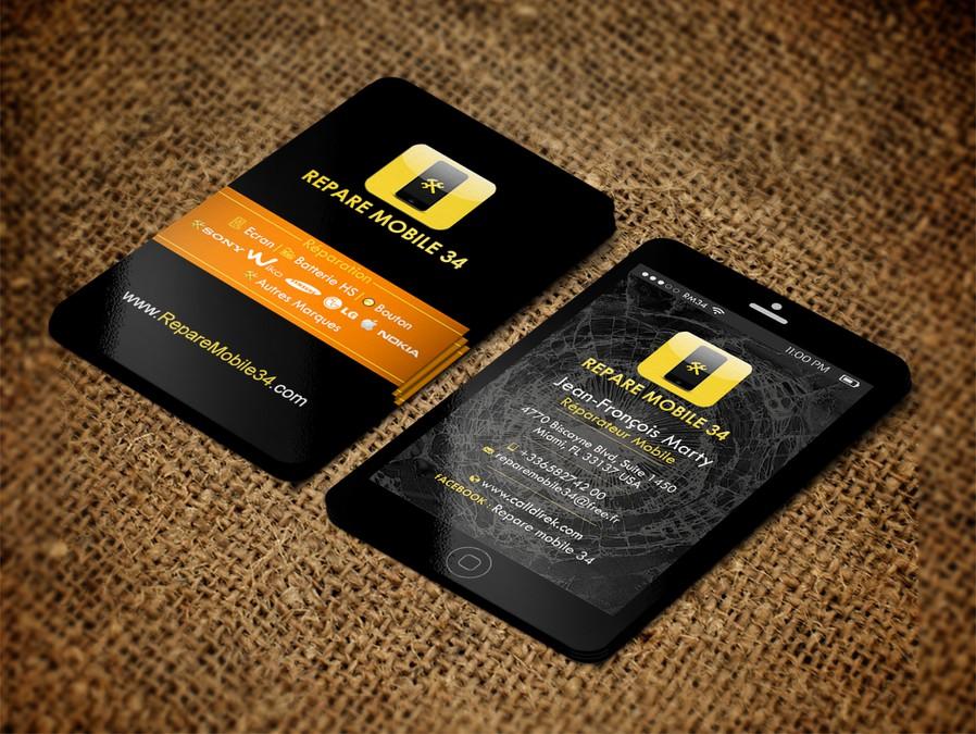 Creer Carte De Visite Reparation Smartphone Et Tablette