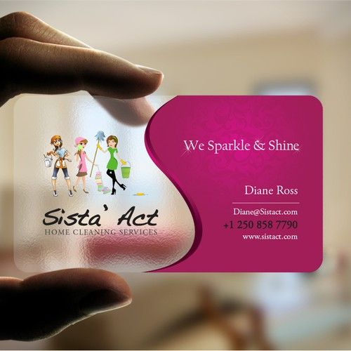 Create A Unique Business Card For 3 Sisters Cleaning