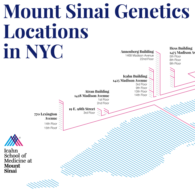 Illustrative Map of New York City to show Mount Sinai
